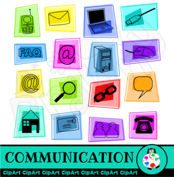 Communication & Technology Clip Art Set