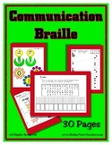 Communication Theme - Braille - Preschool to Kindergarten