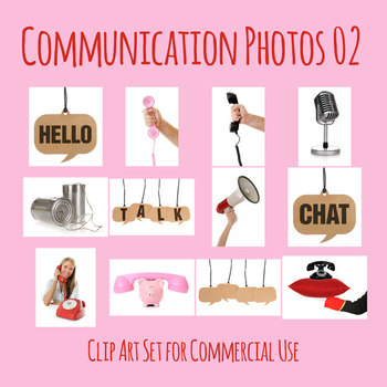 Communication Theme Photos / Clip Art Set for Commercial Use 2