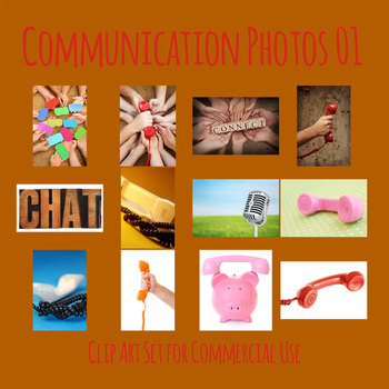 Communication Theme Photos / Clip Art Set for Commercial Use