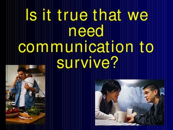 Communication Theory: An Introductory PowerPoint