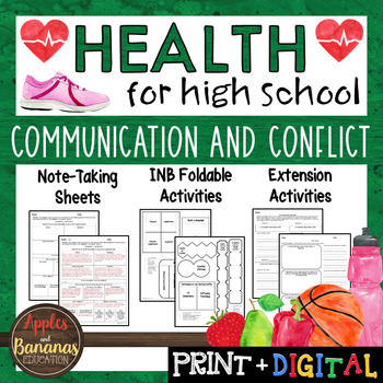 Communication and Conflict - Interactive Note-Taking Materials