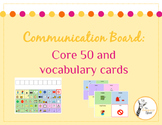 Communication board: Core 50 board with vocabulary cards