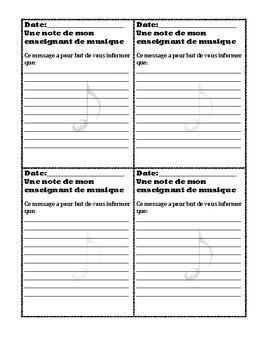 Communication cours de musique