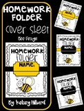 Communication folder cover sheet ( Bumble Bee Design) Homework cover sheet