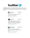 Communication in Art - Artist Twitter Feed