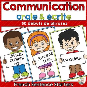 Communication orale et écrite - 50 débuts de phrases  - French Sentence Starters