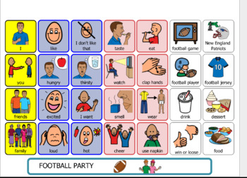 Autism Visual Support and more-Communication/topic board FOOTBALL PARTY