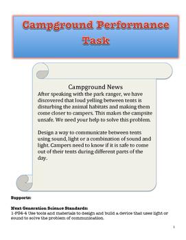 Communication using Light and Sound Performance Task