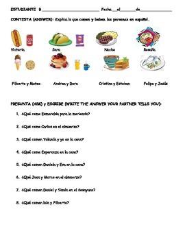 Spanish Partner Communicative: FOOD/La comida