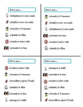 Communicative French Activity (Speak, Listen, Write): Regular Verbs