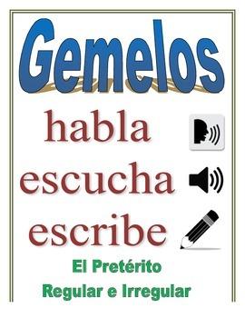 Communicative Spanish Activity (Speak, Listen, Write): Preterite, Reg + Irreg
