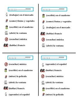 Communicative Spanish Activity (Speak, Listen, Write): Regular Verbs