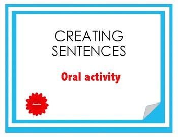 Communicative activity - sentence building