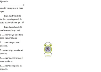 Communicative/ partner activities for the Spanish imperfect tense