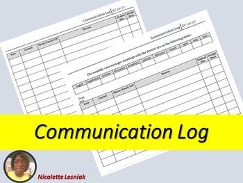 Communicaton Log