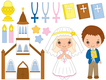 Communion Clipart - Digital Vector First Communion, Religi