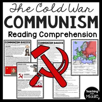 Cold War- Communism Reading Comprehension Worksheet, DBQ