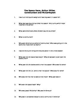 Communism PowerPoint Handout - Questions