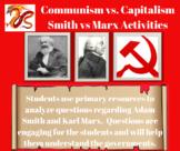 Communism and Capitalism: Adam Smith vs. Karl Marx activities