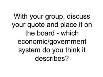 Communism and Capitalism Class Activities