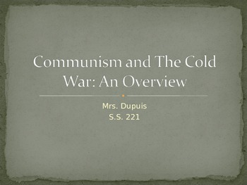 Communism and Cold War Overview