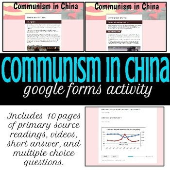 Communism in China- Google Forms Activity