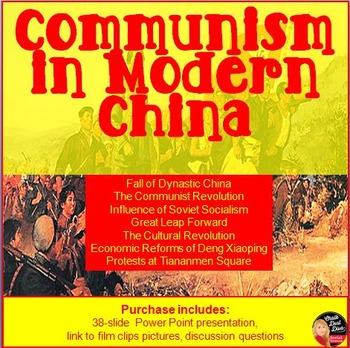 Communism in Modern China Lecture Power Point Presentation