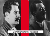 Communism vs. Fascism Smartboard Chart