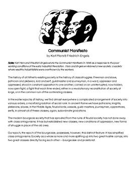 Communist Manifesto Document Analysis