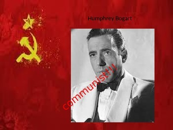 Communist or Not a Communist Powerpoint