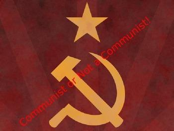 Communist or Not a Communist Powerpoint
