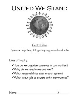Communities & Citizenship - United We Stand