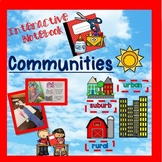 Communities (urban, rural, and suburban) - Interactive notebook