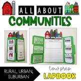 Communities Lapbook {Rural, Urban, Suburban} Social Studies