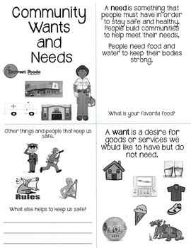 Communities Meet Needs Booklet EDITABLE