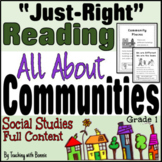 "Communities: ""Just Right"" Reading Grade 1 or 1/2 New BC Curriculum"