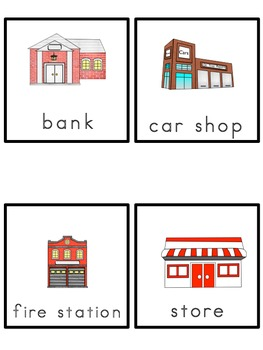 Communities Picture Word Bank and Word Cards
