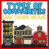 Communities PowerPoint Urban, Suburban & Rural