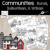 Communities Rural, Suburban, Urban