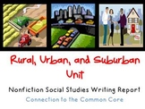 Communities: Rural, Urban & Suburban Informational Writing
