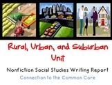 Communities: Rural, Urban & Suburban Informational Writing