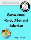 Communities: Rural, Urban, and Suburban--Ready to Use Activities