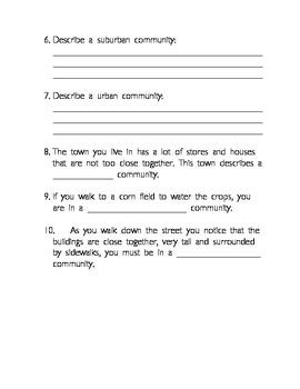 Communities Social Studies Test