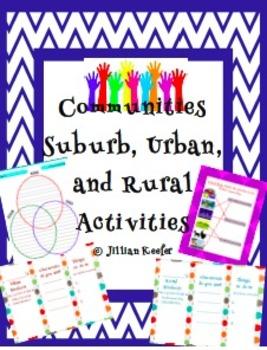 Communities-Suburb, Urban, and Rural Activities