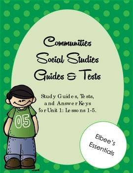 Communities Unit 1 Tests, Study Guides, and Worksheets