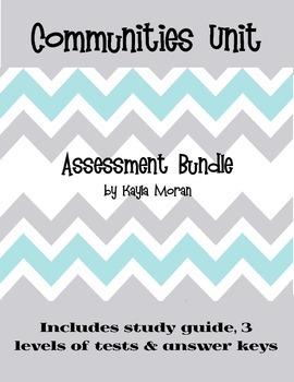 Communities Unit Assessment Bundle