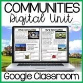 Communities: Urban, Suburban, Rural DIGITAL Unit for GOOGLE Classroom
