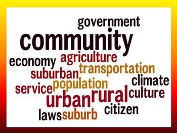 Communities Vocabulary Study Guide and Quiz- Third Grade
