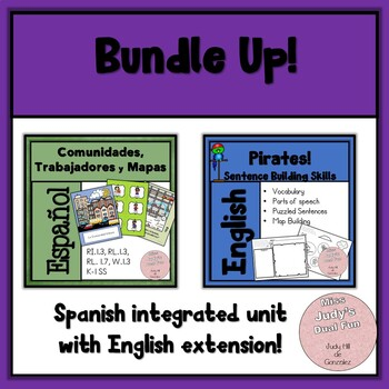 Communities, Workers, Maps Bundle: Spanish unit with English Extension